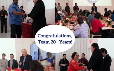 Employee Recognition Event at Servicon: Congratulations, Team 20+ years!